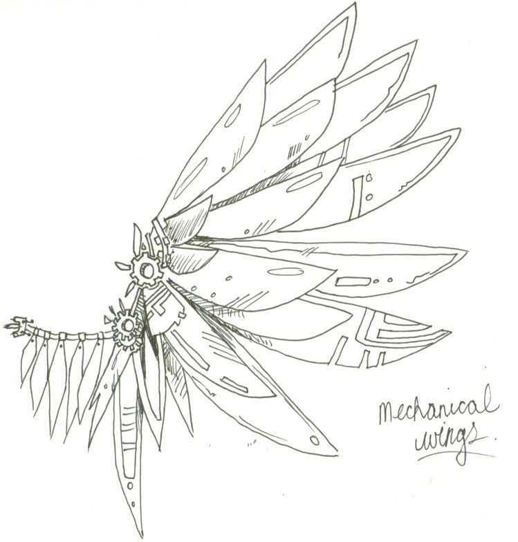 mechanical wings by KaraNari.deviantart.com on @DeviantArt
