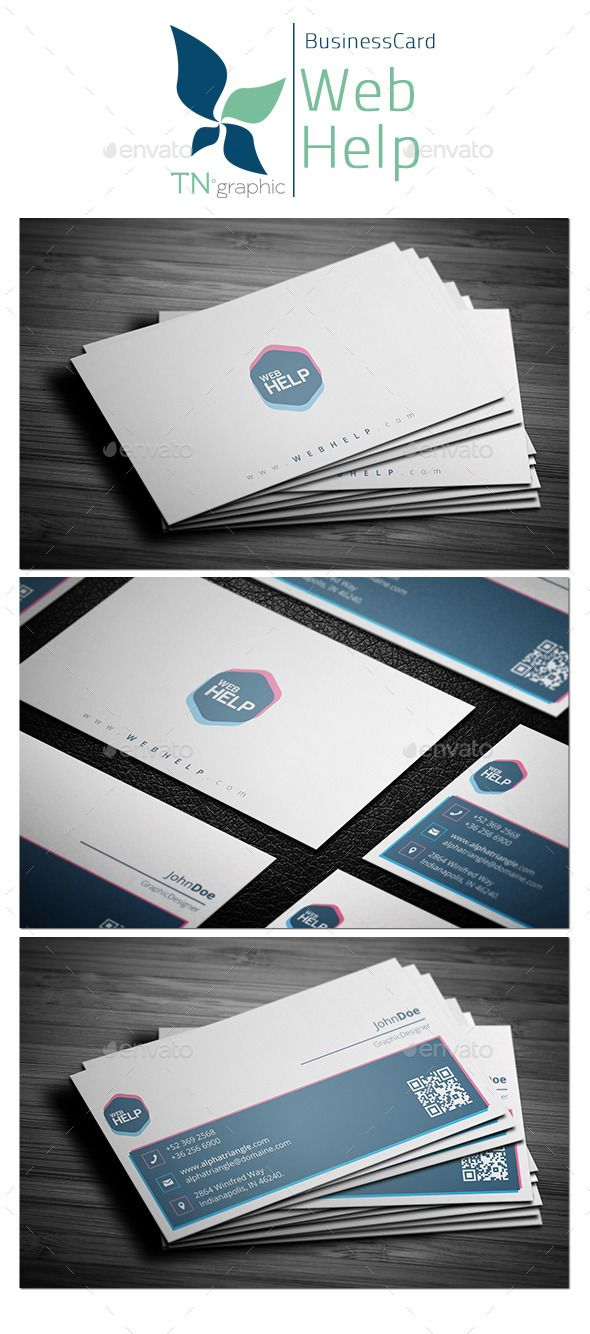 Webhelp business card modern business card template pinterest webhelp business card reheart Image collections