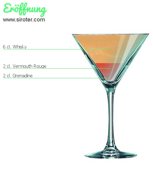 Recette Cocktail ERÖFFNUNG