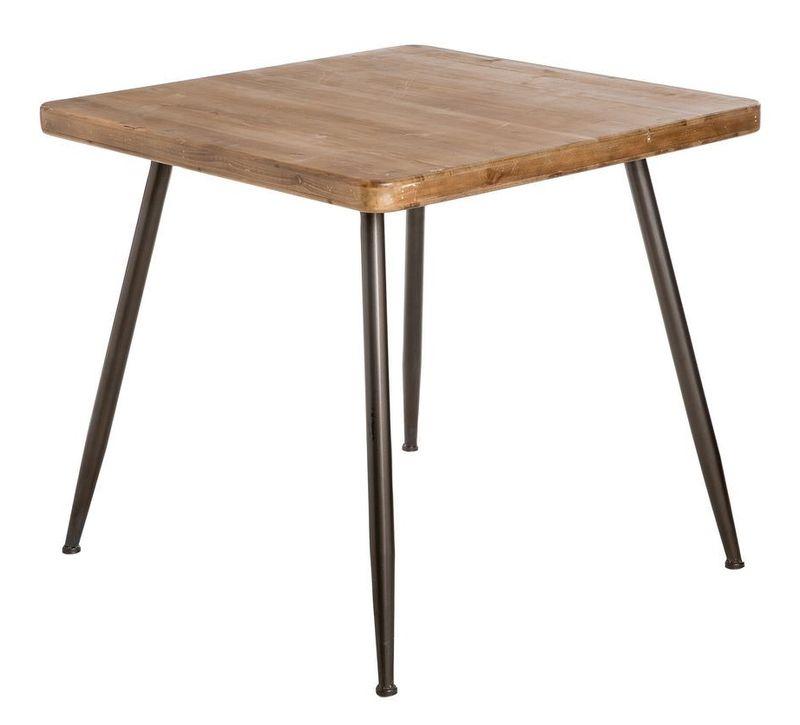 Mesa de comedor estilo industrial elaborada en hierro y for Mesas industriales vintage