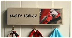 New handmade Personalised dog lead hooks, keep dog leads and coats neat and tidy, perfect gift for pet owners