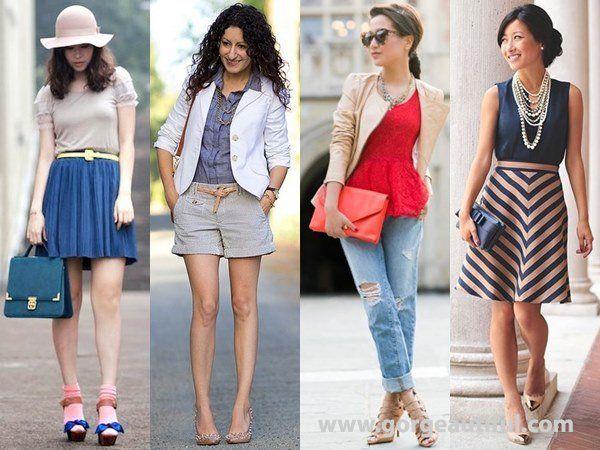 Devojke u različitim modnim kombinacijama