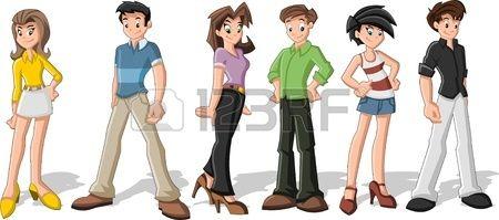 Imagenes De Adolescentes En Dibujos Animados