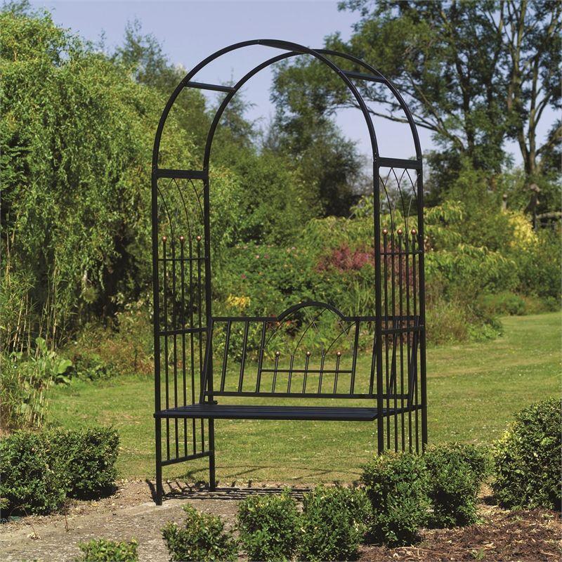 169 Bunnings Gardman Westminster Garden Arch With Seat I N 3320909 Bunnings Warehouse Garden Archway Garden Arch Garden Arbor