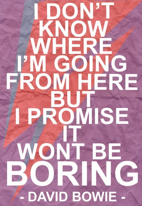 HBD, David Bowie!  (Source: quoteswave)  #david bowie  #happy birthday  #quote  #fashion  #styleicon