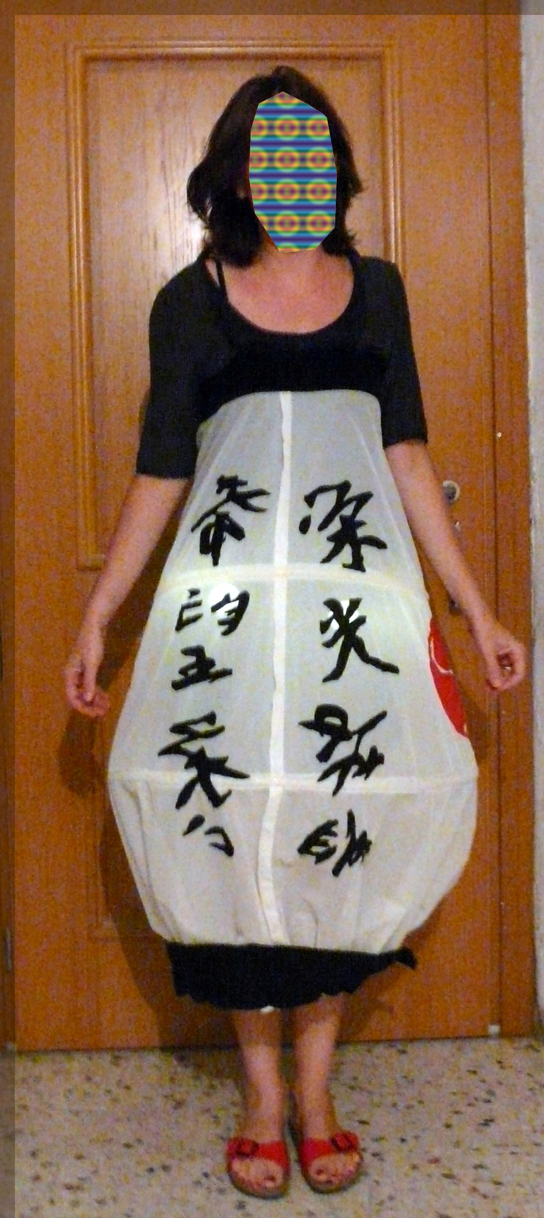 Costume Japan Theme A Japanese Lantern Made With The Frames Of A Petticoat Wedding Dress Led