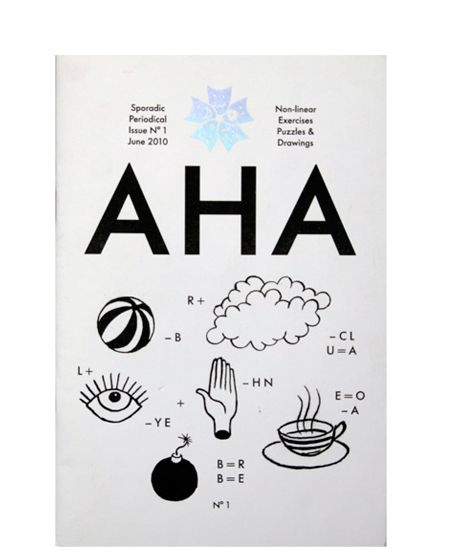 'AHA' is a collection of games, exercises and illustrations that follow a non-linear logic. 'AHA' is based on ideas developed collaboratively between Nazareno Crea and Molly Kyhl. 'AHA' aim to encourage independent thoughts and solutions. Facts are highly flexible.