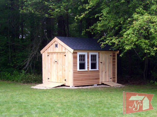 Decorative shed ideas nantucket sheds custom sheds for Storage building designs