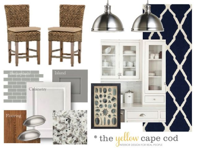 The Yellow Cape Cod: The Kitchen in the Family Lake Cottage Design Plan