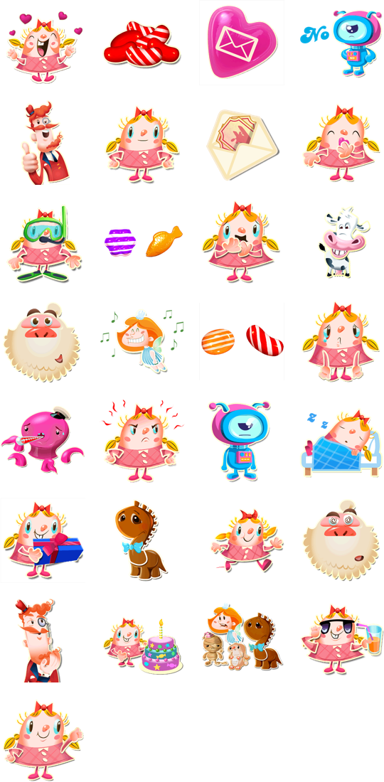 Stickers are illustrations or animations of characters
