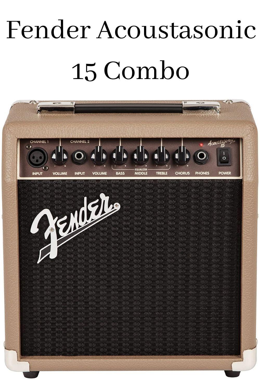 Fender Acoustasonic 15 Combo Acoustic Guitar Amp Guitar Amp Vintage Guitar Amps