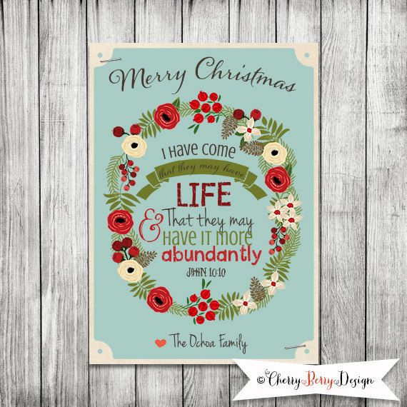 Charmant Christmas Bible Verse Scripture Christmas By CherryBerryDesign, $10.00