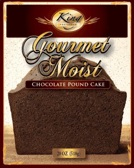 1 Box Chocolate Pound Cake Mix King Preferred