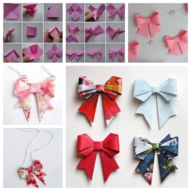 Comment faire des boucles de papier en quelques tapes simples paper bows - Comment faire l origami ...