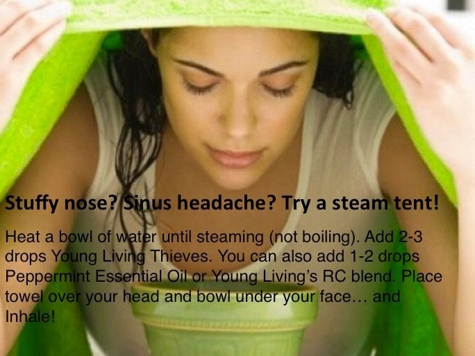 If your head seems clogged up try a steam tent with Young Living Essential Oils!  sc 1 st  Pinterest & Pin by Shantina John on ADULT Remedies (coldsflu sinus viruses ...