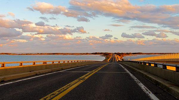 Road to Assateague Island National Seashore, Maryland