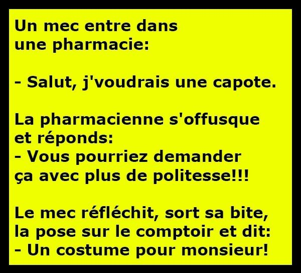 blague a raconter courte