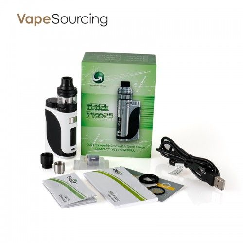 the package of  Eleaf iStick Pico 25 with ELLO Full Kit
