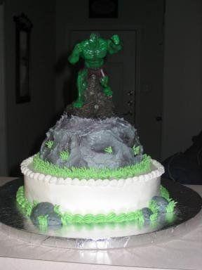 Hulk birthday cake Birthday Party Ideas Pinterest Hulk