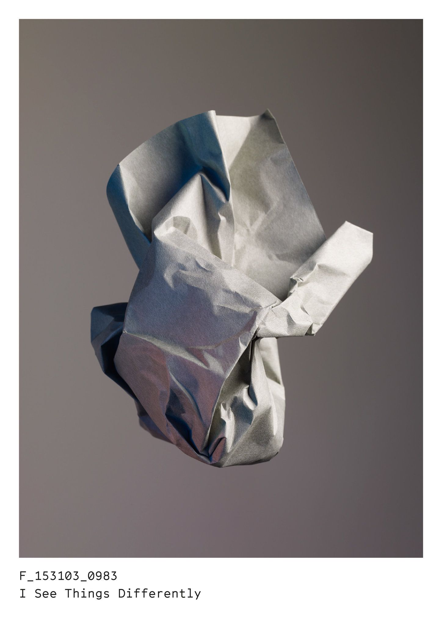 A Photo Series With Audience Participation Published 2016 Black Paper Drawing Crumpled Paper Paper Art Design
