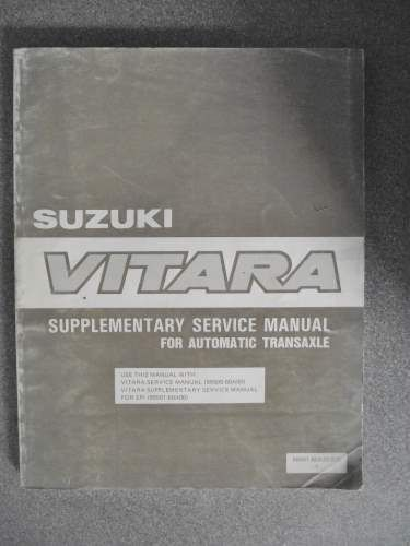 Suzuki Vitara Supplementary Service Manual Automatic Transaxle 89 9950160a2001e