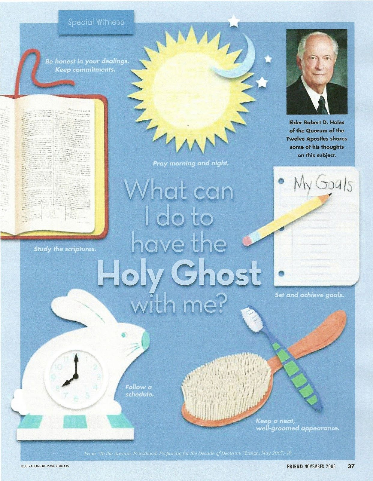 Primary 3 Manual Lesson 12 The T Of The Holy Ghost Journal Handout Girl Handout From The