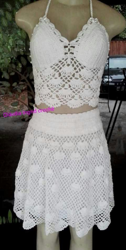 Pin de Natividad Acosta en Ganchillo | Pinterest | Vestidos cortos ...