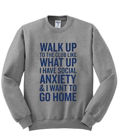 walk up to the club sweatshirt - Kendrablanca