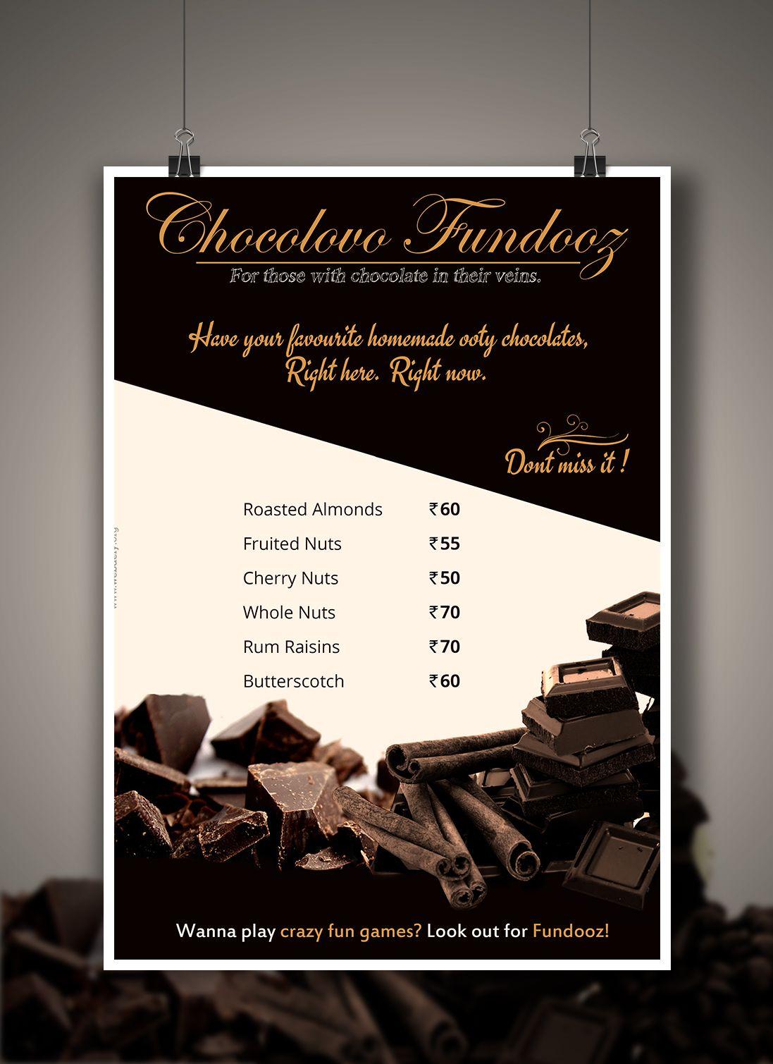 Tempting Chocolate Chocolate Menu Card Design By Webdefy Menu Card Design Menu Design Template Chocolate Design