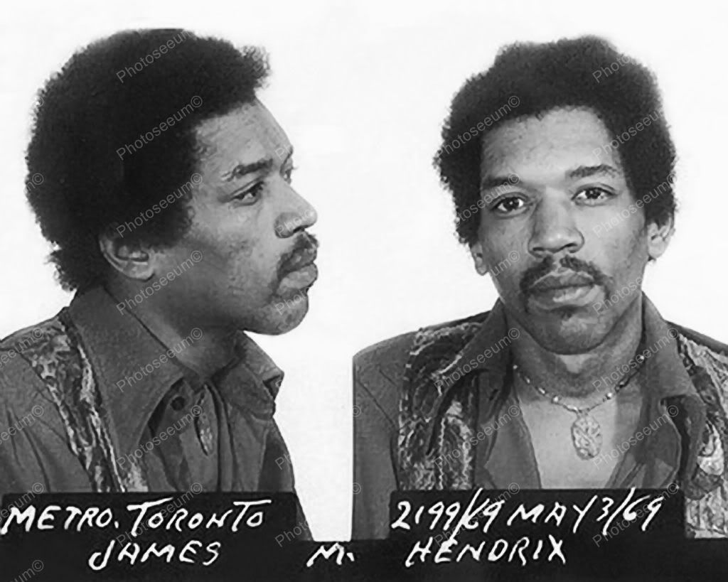 Click HERE to see my other auctions Jimi Hendrix Mug Shot Toronto Vintage 8x10…
