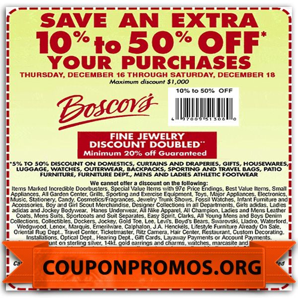 Boscovs coupons in store 2019 printable