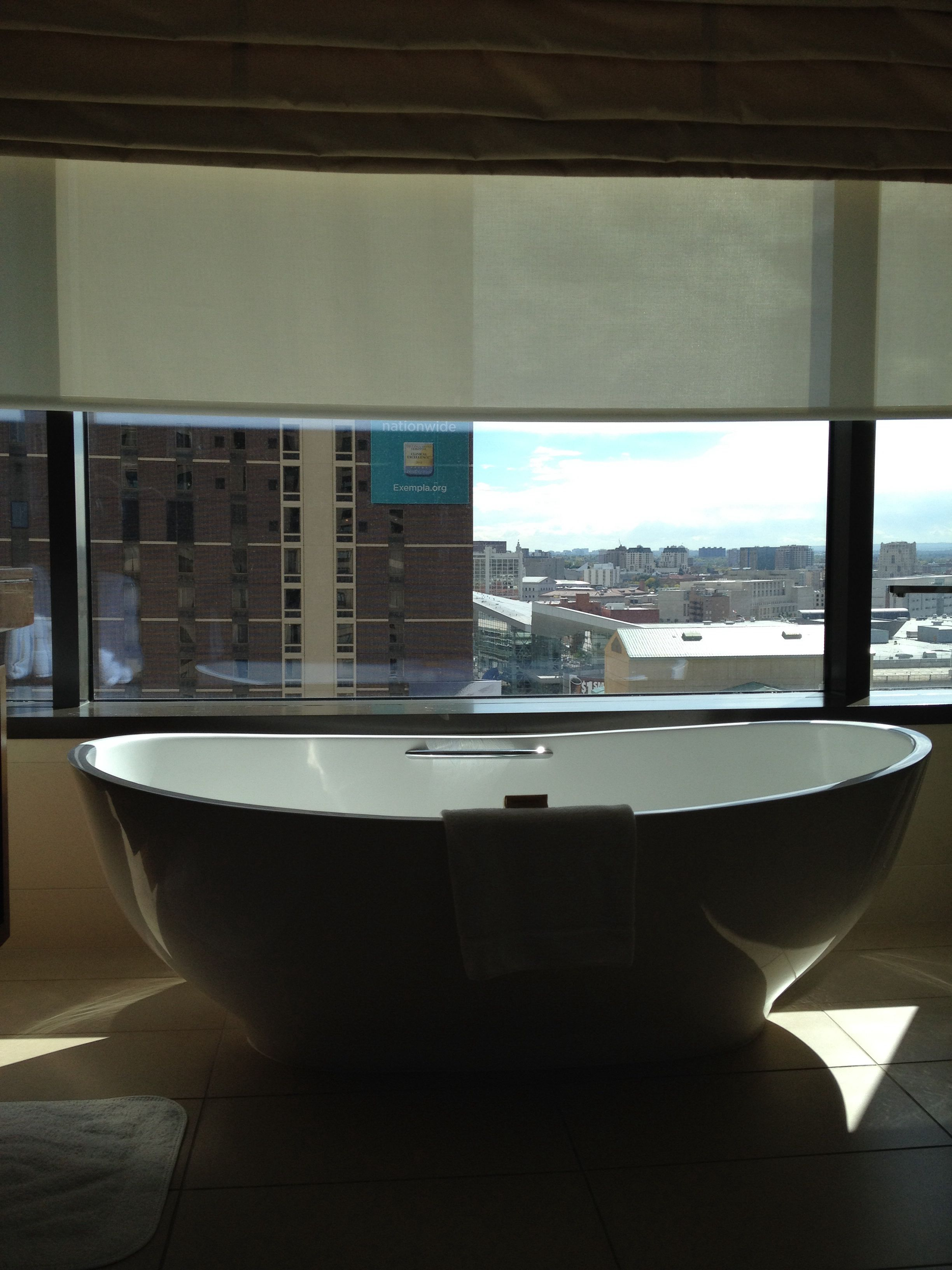 The prettiest hotel bathtub in the world. Denver.   On the Road ...