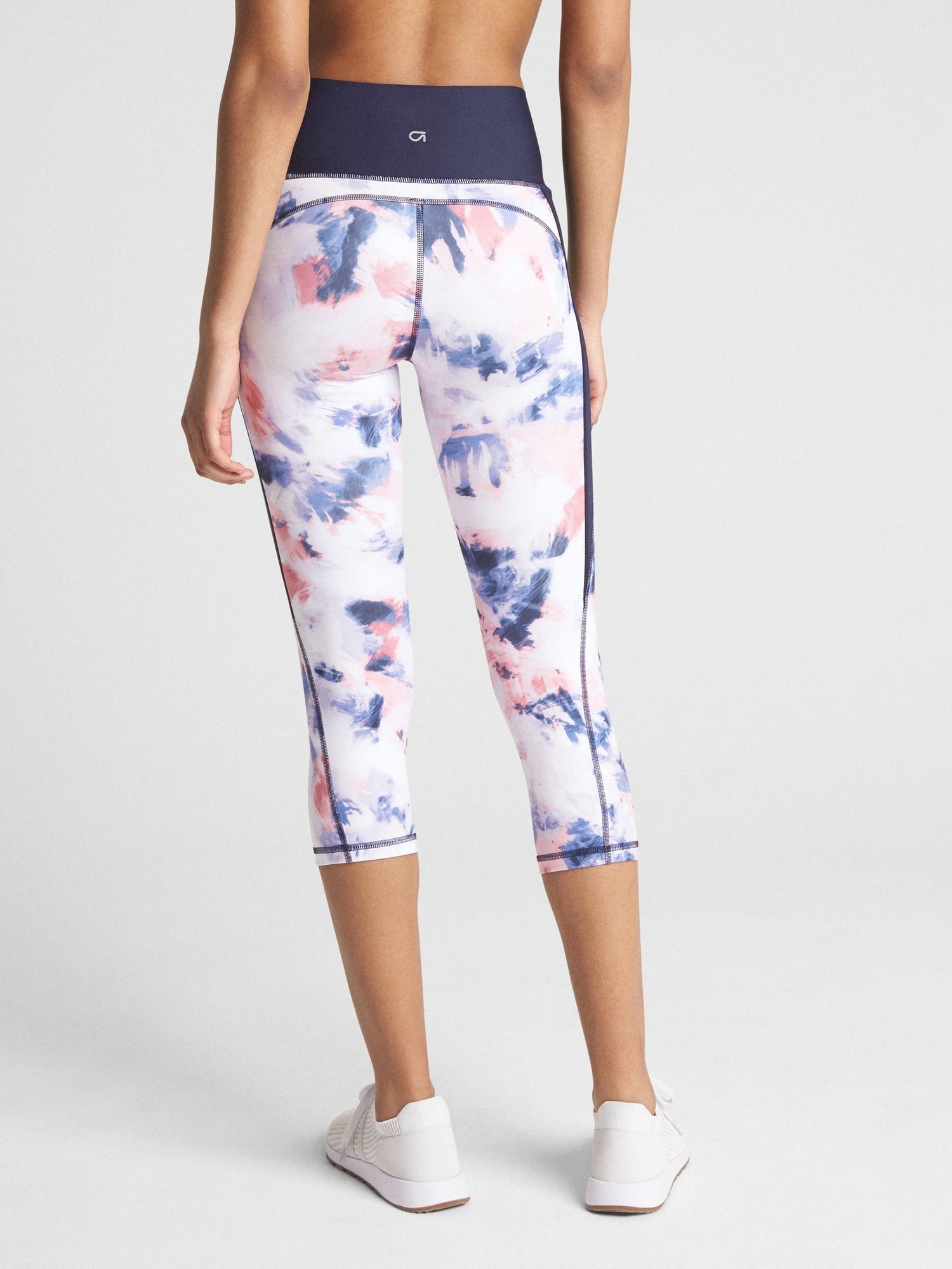 838bf2630a Gap Fit, GFast High Rise Capris in Sculpt Compression, in Abstract Paint  Pink, $70