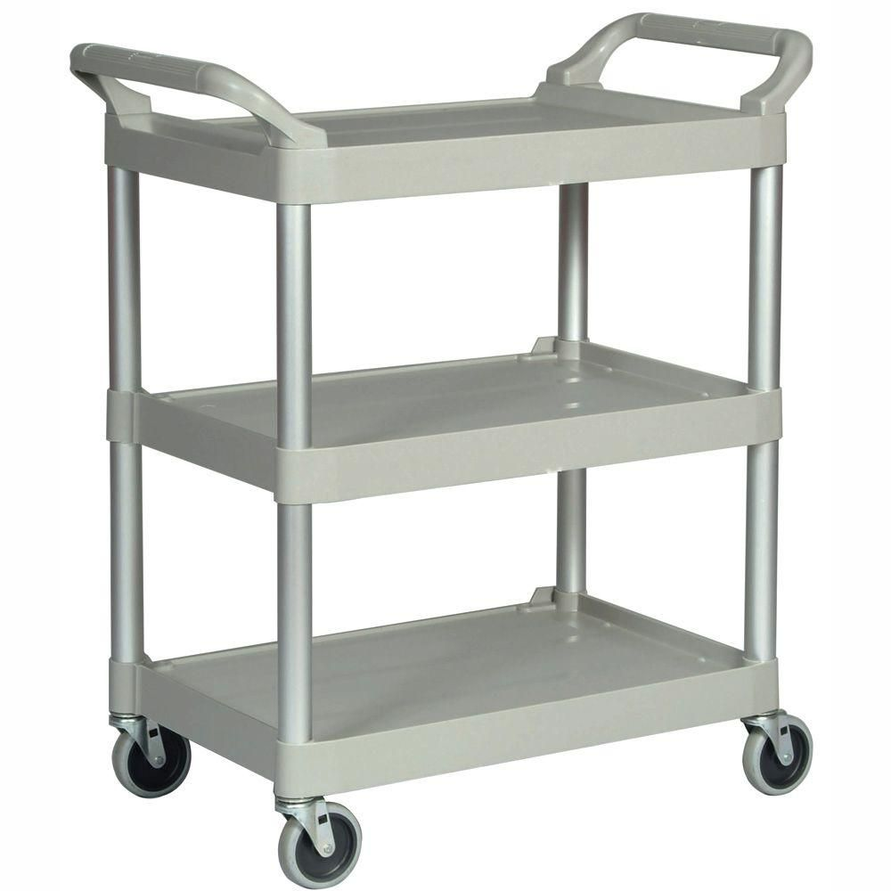 Rubbermaid Commercial Products Utility Cart-FG342488PLAT - The Home Depot
