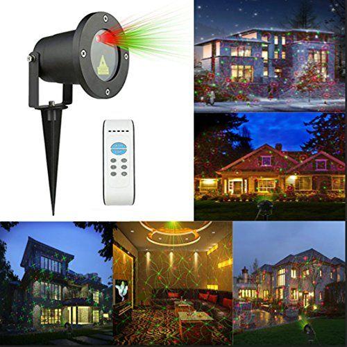 Laser Garden Light Red Green Outdoor Laser Light Star Projection Laser Spotlights Ip65 W Christmas Decorations Outdoor Christmas Decorations Outdoor Christmas