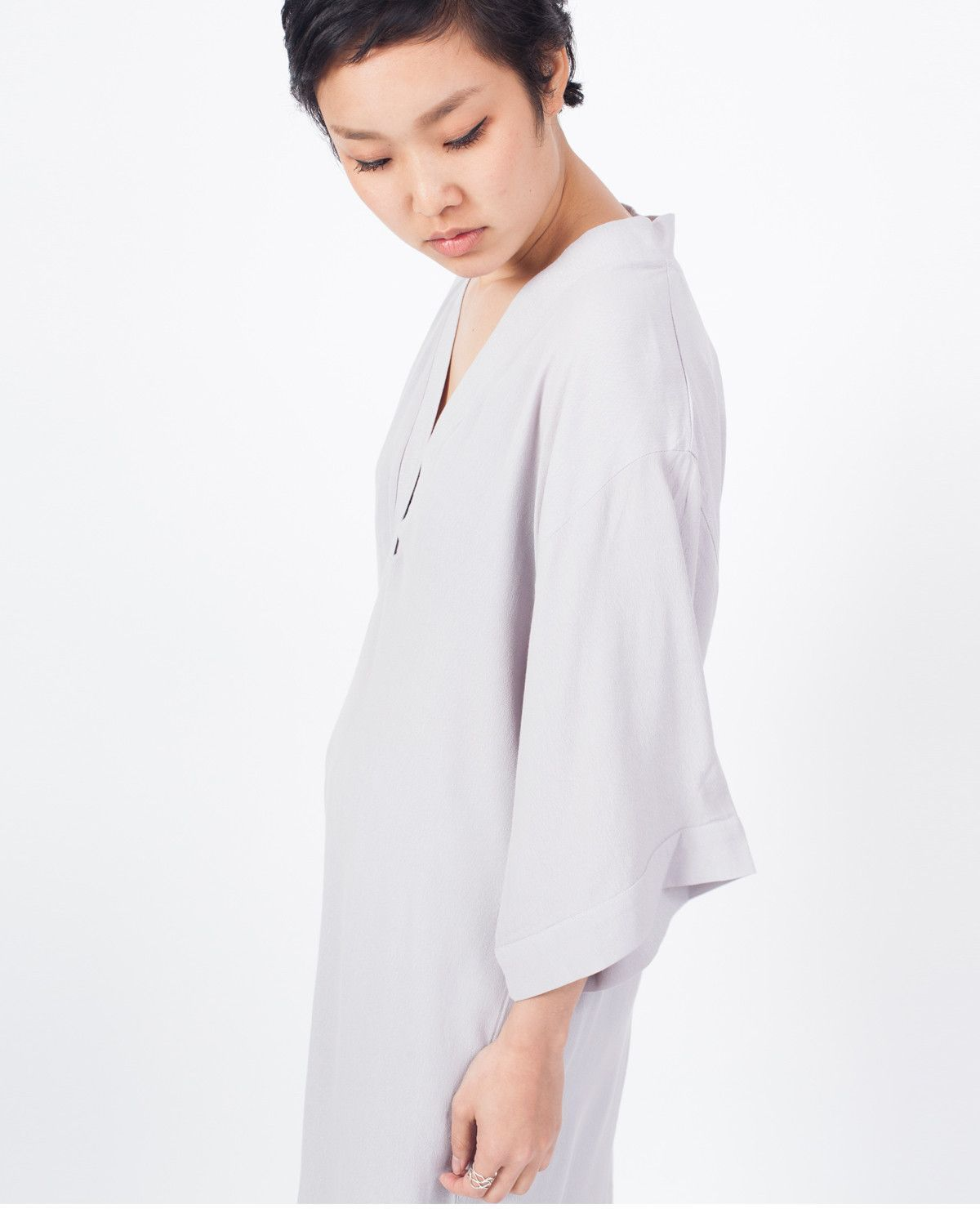 JUST FEMALE Tick Kimono Dress / Grey