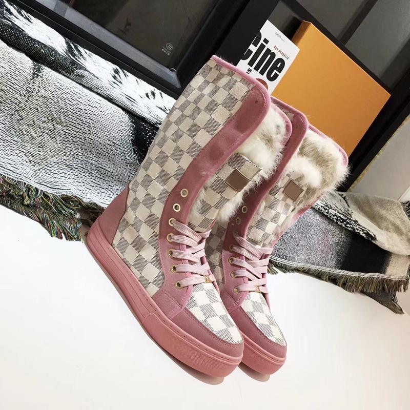 Women Brand Designer Winter Boots Warm