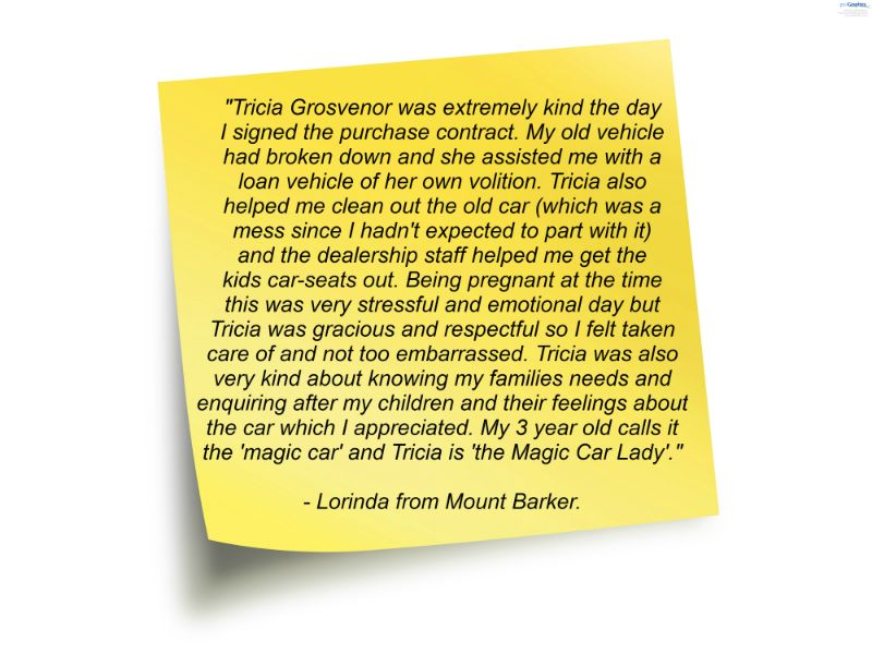 Customer Review Of Adrian Brien Hyundai By Lorinda From Mount