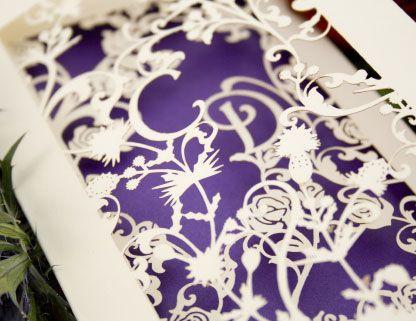 Wedding invitation by Chartula Studio #lasercut #wedding #invitation