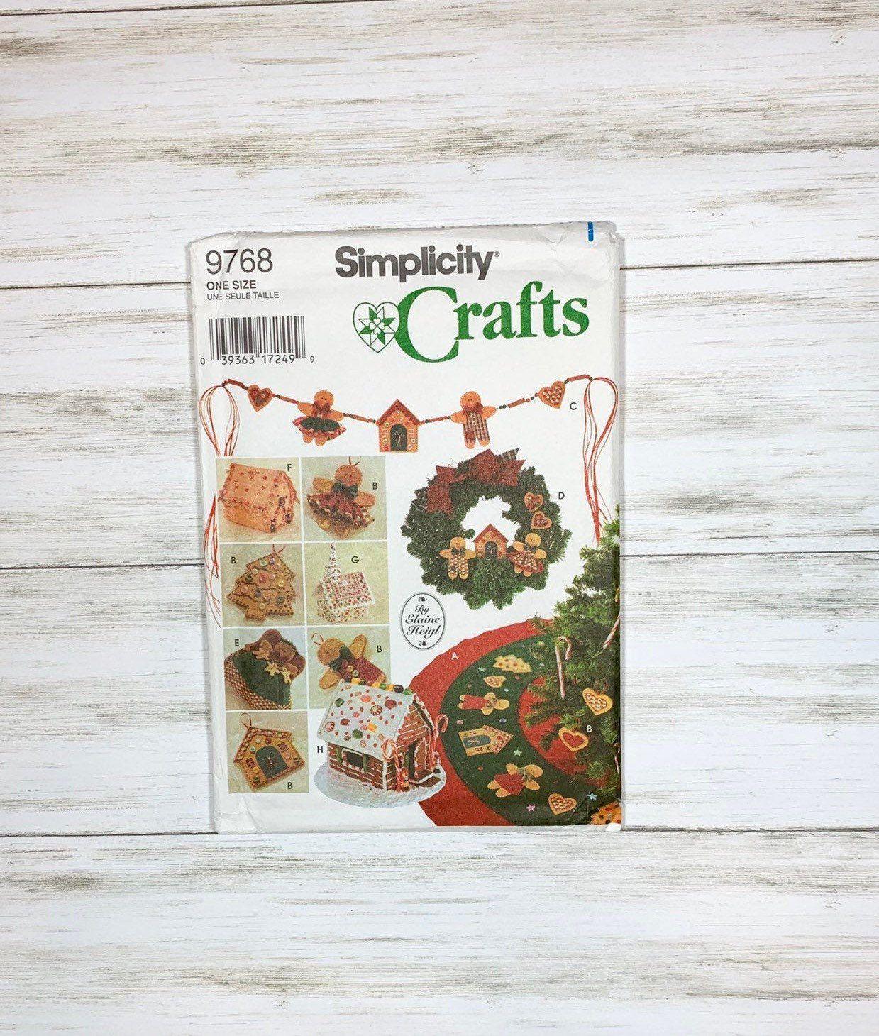 Uncut Simplicity 9768 Christmas Pattern