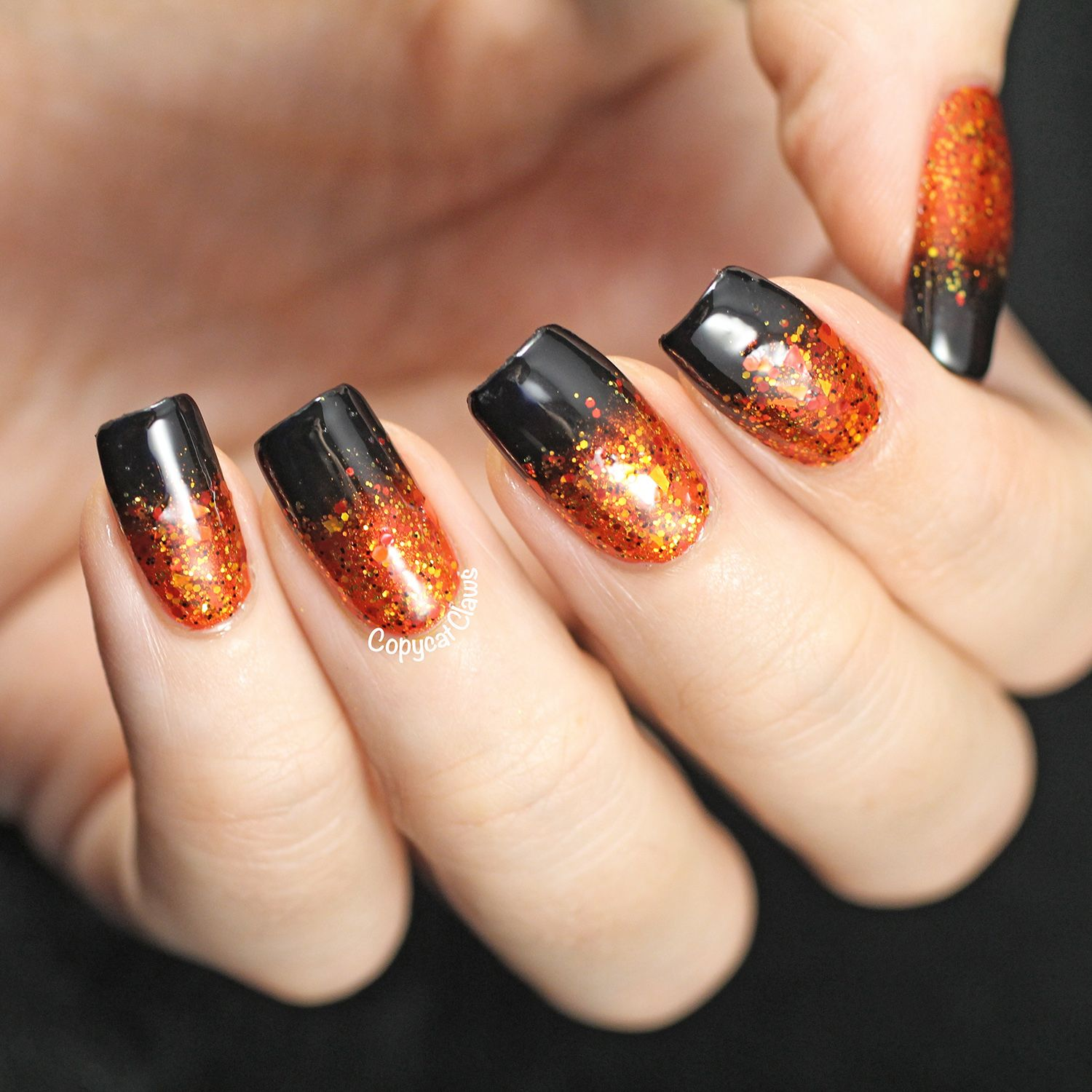 Copycat Claws: Halloween Gradient Nails | Nails, Gradient ...