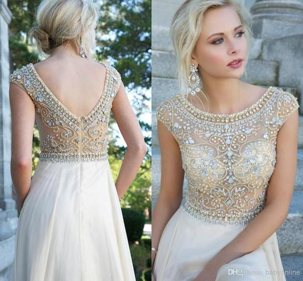Wholesale prom dresses buy new high neck long prom dresses with