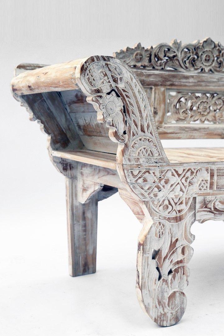 Banc En Bois Recycle Provenant D Anciennes Maisons Javanaises Sculpte A Bali Longueur 167 Cm Poids 37 Kg Meubles En Teck Mobilier De Salon Maison Recyclee