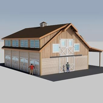 Barn with living quarters the denali garage apt 48 barn for Alaska garage kits