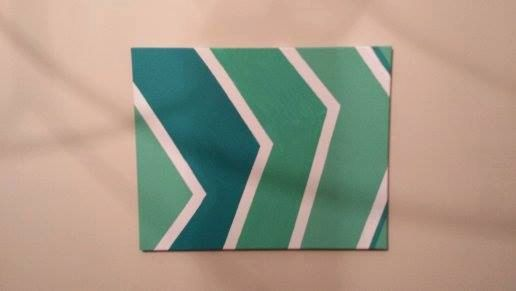 Mint Chevron Modern Acrylic Painting!  Free shipping on orders over $10 with this coupon code: FREESHIP (only until 12/10/2013 so act quick!  Custom orders available