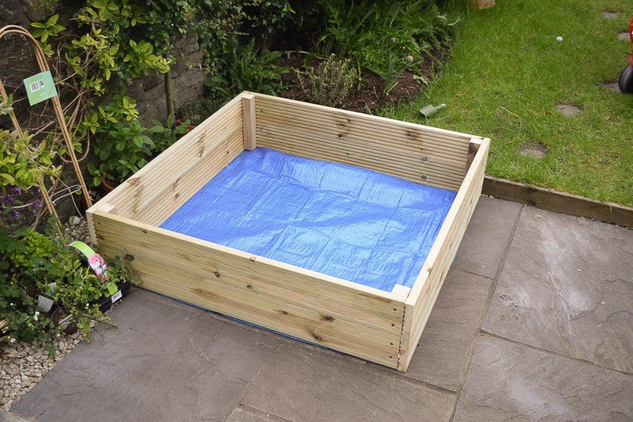 Diy wooden sandpit with lid and benches sand pit sand