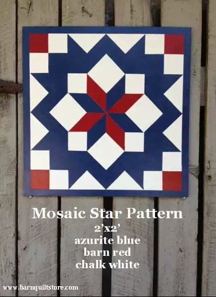 Red White And Blue Barn Quilts Barn Quilts Barn Quilt