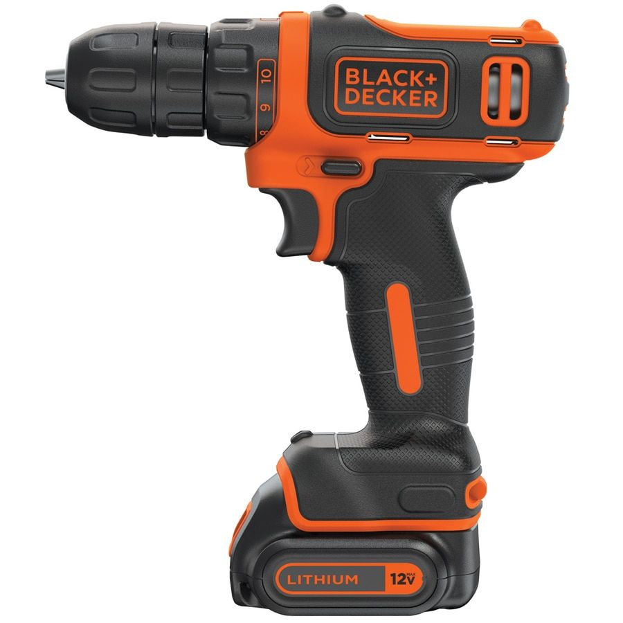 Shop Drills Black Decker 12 Volt Max 3 8 In Cordless Drill Charger Included And 1 Battery Included In 2020 Cordless Drill Drill Black Decker