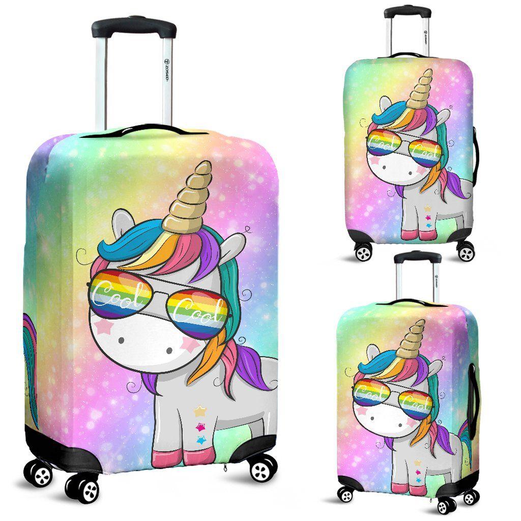 Unicorn Horse Funny Colorful Luggage Cover Uniquegifts Unicornfashion Unicornstuff Unicornitems Bolsos De Unicornio Mochila Unicornio Cosas De Unicornio