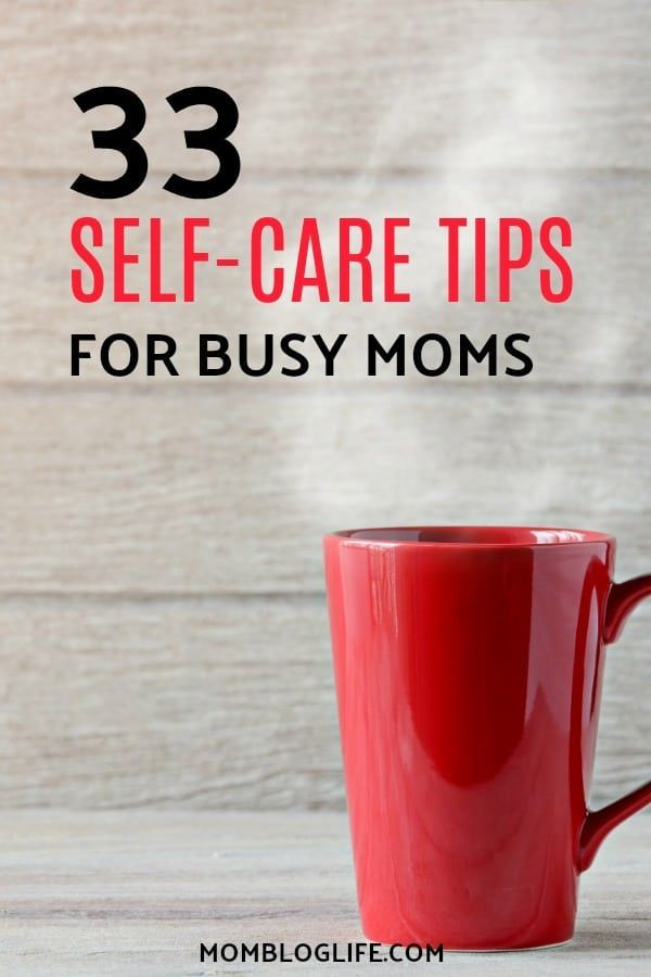 Us moms need to realize that practicing self-care is good for us and not to feel guilty when we do it. In this post, I share 33 self-care tips and ideas to pamper yourself so that you'll feel good. If you're a busy mom you need some self-care love. Check out these self-care ideas for busy moms! #momlife #momhacks #mom #selfcare #selflove